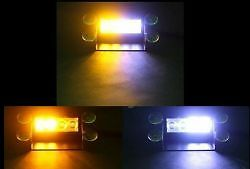 Mini LED Dash Deck Strobe Light Amber-White