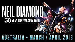 2 x Neil Diamond tickets Melbourne Rod Laver COST PRICE