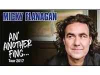 MICKY FLANAGAN-2 x TICKETS - 21st October 2017 - London O2