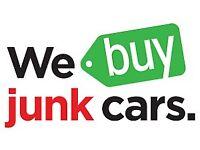 WE BUY JUNK CARS SCRAP CARS VANS MOT FAILURE NON RUNNER SPARES OR REPAIR ANY CAR VANS NO MOT DAMAGED