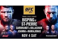 UFC 217 tickets for sale in New York City on 4th Nov at Madison Square Garden