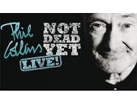 2 Phil Collins tickets Liverpool 2/6/17