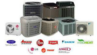 Furnace, Air Conditioning, Hot Water Tank, Tankless, Gas Piping