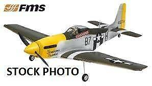 Crashed/Used FMS Mini Warbird 800mm P51 Mustang RC Plane