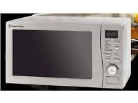 A RUSSELL HOBBS 20 LITRE 800W GRILL COMBI MICROWAVE OVEN IN SILVER MODEL RHM2010S-H