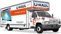 Location de camions Uhaul pour demenagements.