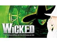 Wicked tickets, Bristol Hippodrome for the final night (3rd March)