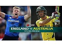 England v Australia 24th party stand x 4 £75 each