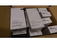 SAMSUNG GALAXY NOTE 5 (4G ) UNLOCKED BRAND NEW BOXED WARRANTY ALL COLOURS