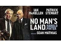 No Man's Land · Ian McKellen and Patrick Stewart · London · Tickets · December 14th