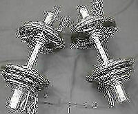 Pair of Olympic 2'' Dumbbell Handles + 60lbs of Olympic Weights