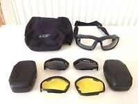 Perfect for motorcycles or any outdoor activity.British Army Advancer V12 ESS Goggles/sunglasses