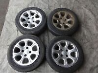 citroen saxo vtr 14 inch alloy wheels with mint tyres