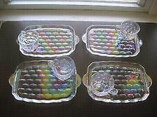 Vintage Federal Glass Iridescent Snack Plate Set