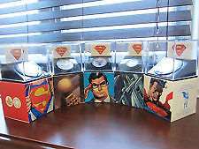 Lot de 5 Pieces de monnaie de Superman  2013 en argent fin.