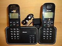 twin home phones with answering machine