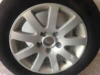 vw mk5/passat/audi /15inch 9spoke spare alloy wheel