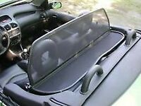 Wind deflector for Peugeot 206cc