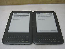 Lot of 2x AMAZON Kindle WiFi E-Book Reader D00901 (1x w/ 3G)+