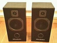 wharfedale s500 black hifi speakers
