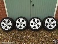 17 inch audi alloys 4 great tyres 5x112 fit seat vw not 14 15 16 18 19 alloy steel wheels m8 swap px