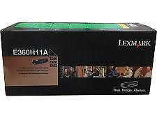 Lexmark E360H11A Black Toner Cartridge, High Yield