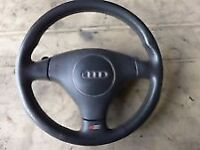 Audi S-Line steering wheel with paddle shifter
