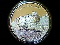Piece de 20$ en argent 2011 'D-10 Locomotive'  1oz .9999