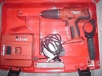 hilti cordless drill and case charger battery