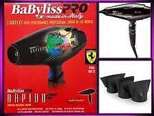 BABYLISS PRO RAPIDO FERRARI ENGINE 2000 WATT LIGHTEST HAIR DRYER Cooranbong Lake Macquarie Area Preview