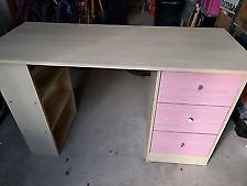 Pink/light beech dressing table