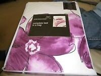 Kenzi Bed In A Bag, Purple, Single. NEW unopened