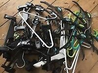 Over 200 Mixed Plastic and Wooden Clothes Hangers