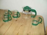 Retro/vintage Randwyck - Holland coffee/teapot with 4 cups
