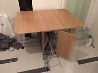 Folding dining table and 4 chairs - 200£ RRP !!