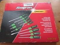 SNAP ON TOOLS SCREWDRIVER SET EXTREME GREEN