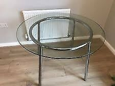 Used IKEA SALMI Glass round dining table modern | in ...