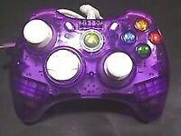 Xbox 360 controller purple transparent