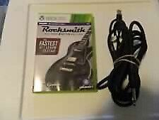 Rocksmith game and guitar cord for Xbox 360