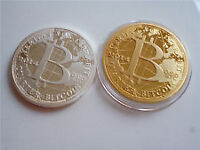 BITCOINS Gold+Silver Plated 2014 SET OF 2 AS PICTURED CASASCIUS