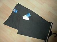 M&S Boys school trousers, BNWT, black, age 7-8 Yrs - cost £10 accept £6 BARGAIN