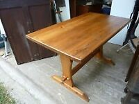 VINTAGE PINE STRETCHER TABLE IN GOOD CONDITION