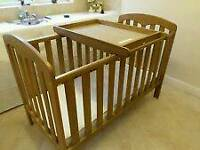 John Lewis Rachel Cotbed with Organic Mattress and Cot Top Changer - can deliver