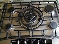 Neff T2766NO Built In 5 Burners gas hob Stainless Steel with Wok/Stir-fry ring