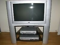 "32"" TV IN WORKING ORDER WITH STAND ANALOGUE CONVERTER AND REMOTE CONTROL GREY COLOUR"
