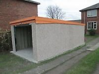 wanted concrete sectional garage or workshop can remove dismantle