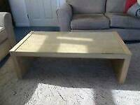Ikea coffee table. Beech with Glass top