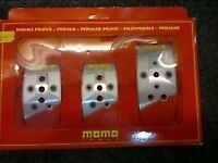 "Momo ""stealth"" pedal set."
