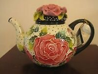Rose Teapot by Jeanette McCall/Blue Sky ICING ON THE CAKE - Brand New & Boxed