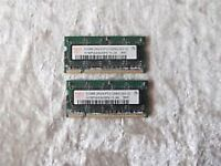 2 x 512 mb ram for laptop for sale